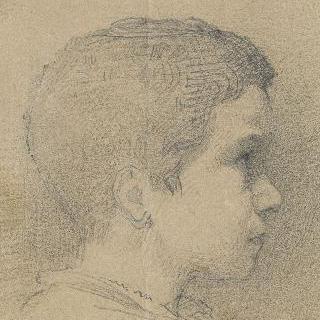 어린시절의 형제의 얼굴 (오른쪽 옆 모습)