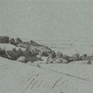 로마 평야, 언덕 위 왼쪽의 마을