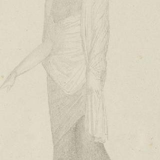 폼페이 프레스코화풍의 습작 : 주름진 옷을 입은 서 있는 여인