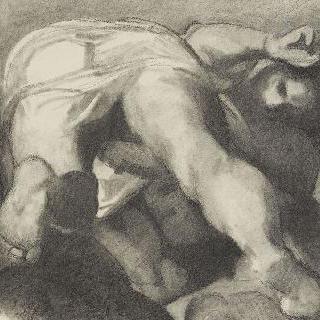 다니엘 다 볼테라풍의 크로키 : 십자가에서 내려지는 그리스도의 일부