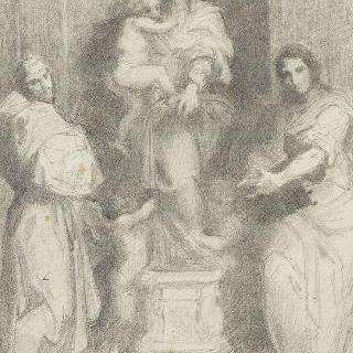 피렌체 안드레아 델 사르토의 하르퓌아의 성모의 복제화