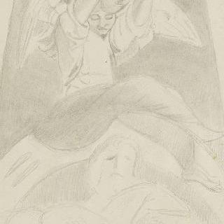 복제화 : 두 팔을 들고 있는 아기 천사