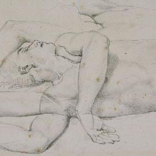 아크론의 승리자 로물루스 습작 : 누워있는 아크론