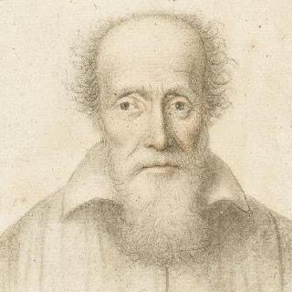 회색 수염의 남자 정면 상반신 초상 (브리송 대통령)
