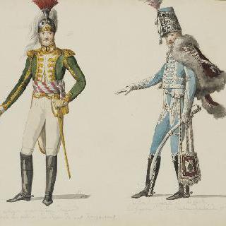 용기 부대의 대령과 경기병의 대령 의복