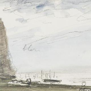 에트르타의 절벽과 모래사장