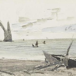 에트르타의 바닷가