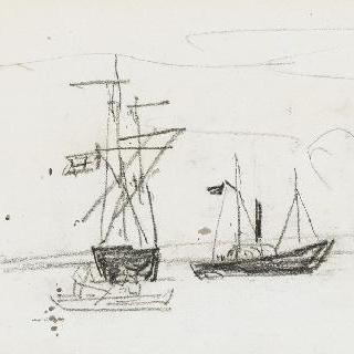 범선과 작은 배