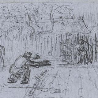 1859년 경의 첫 번째 발자국의 데생