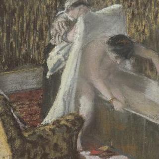 욕조에서 나오는 여자 또는 욕조에서 나오기