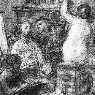 앨범 : 1865년 경, 아틀리에 안에서의 포즈 수업