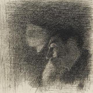 여인의 흉상과 남자의 옆모습 : 콩세르 기념물 습작