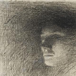젊은 인물의 얼굴 : 콩세르 기념물 습작