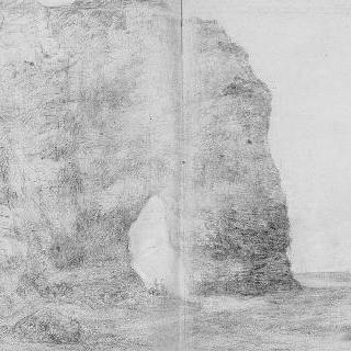 바닷물에 패인 절벽, 에트르타 ()