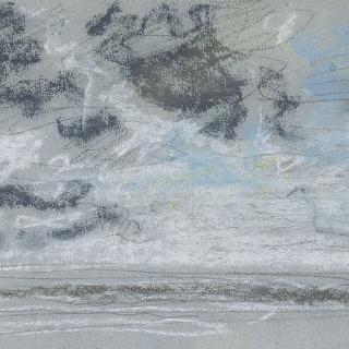 바다 위의 구름낀 하늘 습작