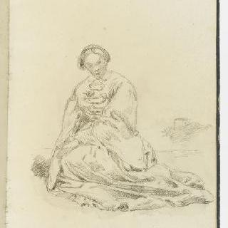 앨범 : 풍경 속에 앉아있는 여인