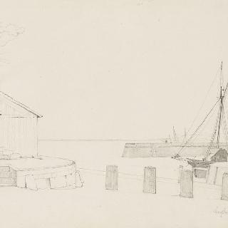 옹플뢰르의 선박이 있는 부두