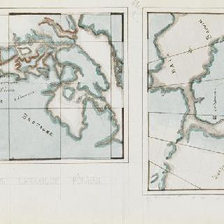 화첩 : 기하학적 지도 두 개