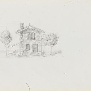 화첩 : 두 그루의 나무들에게 둘러싸인 집