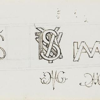 화첩 : 엮음 무늬 장식의 편지 습작