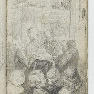 앨범 : 영구대 주변의 성당 안의 무리지어있는 남자와 여자들