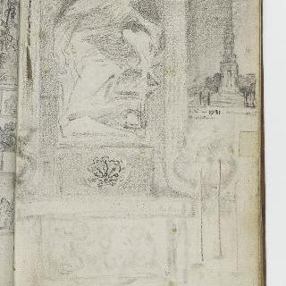 앨범 : 저부조의 받침돌 위의 동상 : 오벨리스크 형태의 기념물