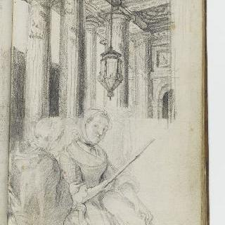 앨범 : 왕궁 주랑과 앉아있는 두 여인