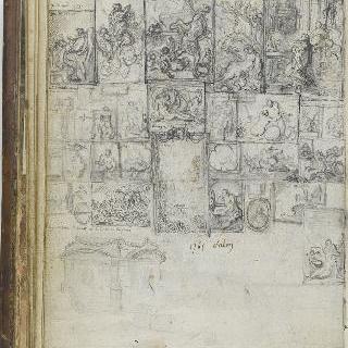 앨범 : 1765년 전시실 : 루이 15세 광장의 동상 받침