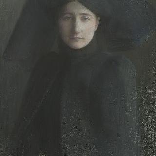 상중인 젊은 여자의 초상