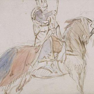 아랍 기병 오른쪽 프로필