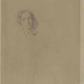 안락의자에 앉아 있는 젊은 여자의 초상