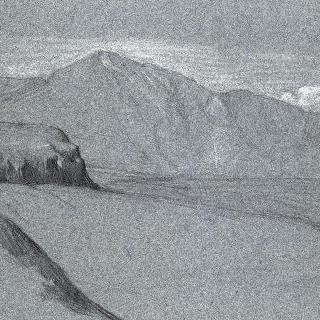 배경쪽에 산이 있는, 바위들이 있는 풍경