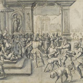 2월의 우의화 : 모뒤스 왕과 라티오 왕비에 대한 경의