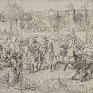 1525년 2월 25일 파비 전투 : 프랑스 왕 프랑수아 1세의 항복