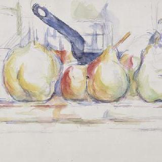 정물 ; 사과, 배, 냄비