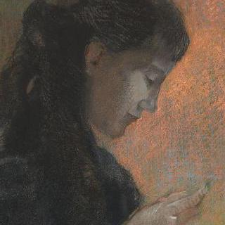 수를 놓는 르동 부인의 초상