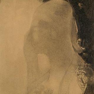 졸음 : 머리덮개를 쓴 눈을 감고 있는 여인 흉상