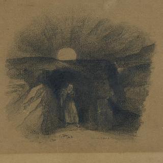 한 남자가 나오는 동굴