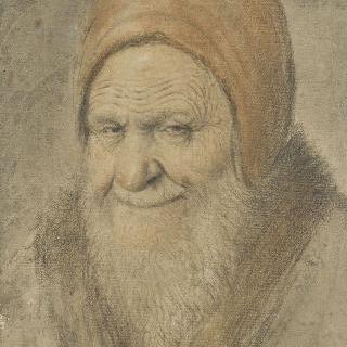 붉은 모자를 쓴 노인의 흉상 초상