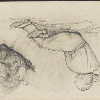 앨범 : 누워있는 남자, 개 (거꾸로 된 그림)