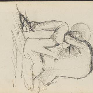 앨범 : 등을 보이고 바닥에 앉아 있는 남자 (세로 그림)