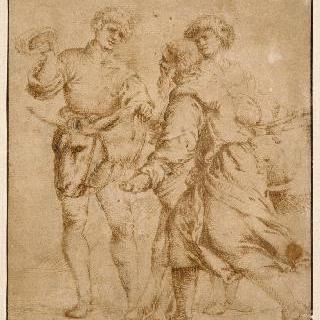 제물대로 향하는 아브라함과 이삭