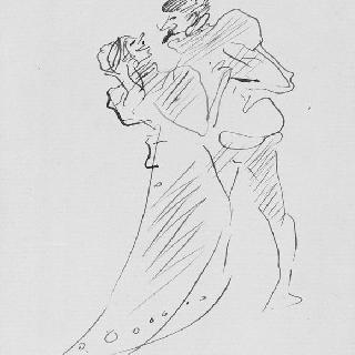 1899년 경의 공연 의상복을 입은 춤추는 연인