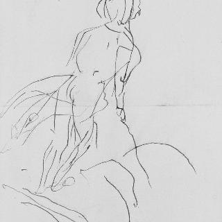 페르난도 서커스에서 말 위에 서 있는 남자 : 앨범 툴루즈 로트렉