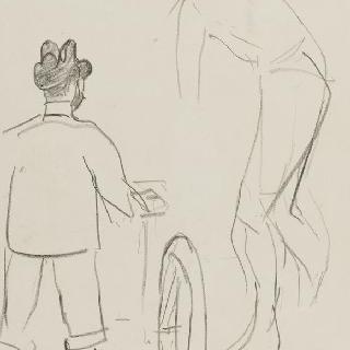툴루즈 로트렉의 뒷모습과 사이클 선수