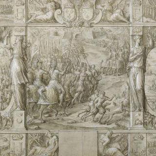 샤를 퀸트에게 승리를 거둔 프랑수아 1세의 개선행진