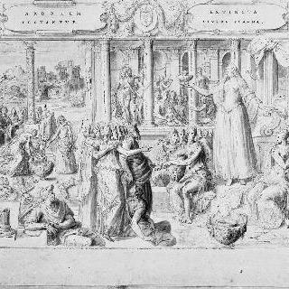 오늘날의 프랑스 역사 : 왕의 유해를 들고 있는 왕비