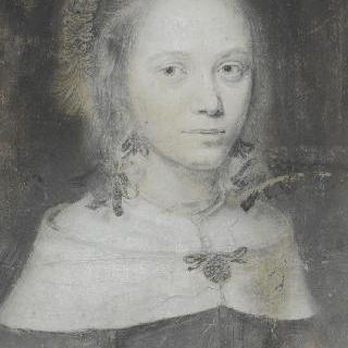 흰색 케이프를 한 여인의 흉상 초상