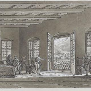 1796년 6월 페쉬에라의 휴전에 서명하는 보나파르트