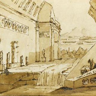 앨범 : 폐허가 된 고대 건축물의 전경